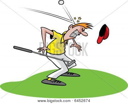 Goofy golf guy
