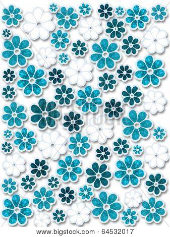 Blue Christmas Flowers