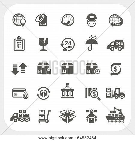 Logistics And Shipping Icons Set