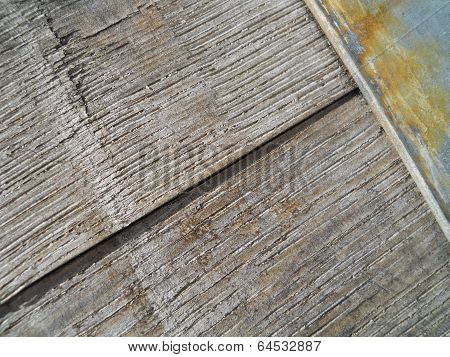 Close Up Old Wood Barrel Diagonal Texture