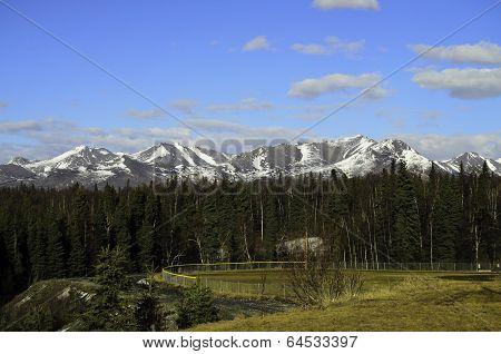Blue skys and snowy peaks