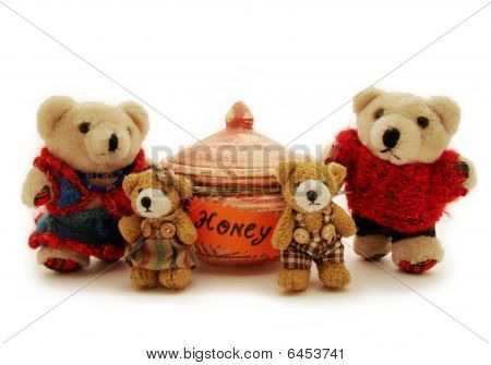 Family Of Teddy-bears