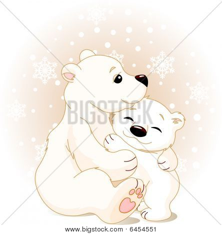Mother and baby bear