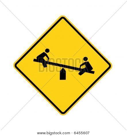 road sign - playground