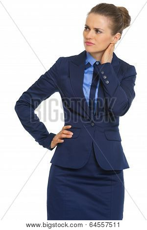 Portrait Of Doubting Business Woman