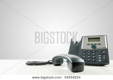 Landline Telephone With The Receiver Off-hook