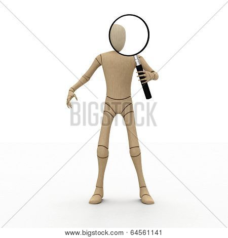 Abstract Man With A Magnifier