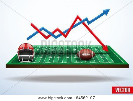 Concept of statistics about the game of football