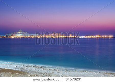 Presidential Palace in Abu Dhabi at sunset, United Arab Emirates