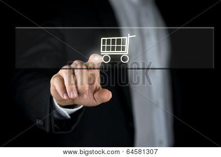 Shopping Cart On A Navigation Bar