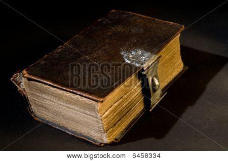 Old Bible On Black
