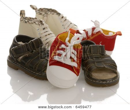 Pile Of Infant Shoes