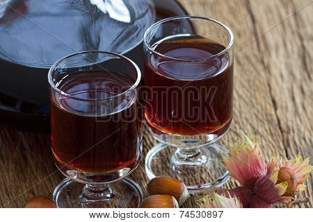 Homemade Hazelnut Liqueur