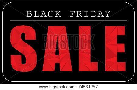 Black Friday Sale Text modern polygonal design