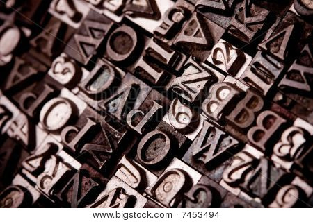 Metal typography