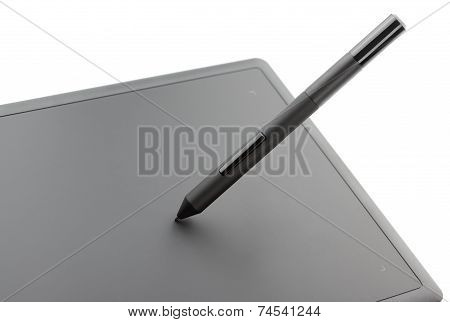 Closeup Of Modern Graphic Tablet