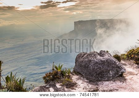 The view from the plateau of Roraima on the Grand Sabana - Venezuela Latin America poster