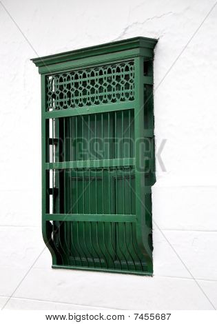 Green Colonial window