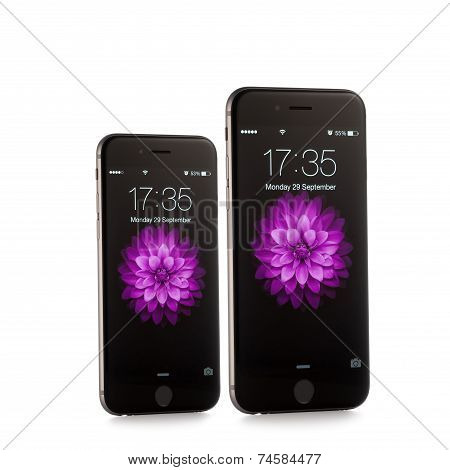 MOSCOW, RUSSIA - SEPTEMBER 29, 2014: New iPhone 6 and iPhone 6 Plus is a smartphone developed by App