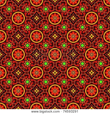 Sindhi Ajrak Vector Pattern