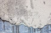 Old damaged whitewash on the concrete wall with rich texture poster