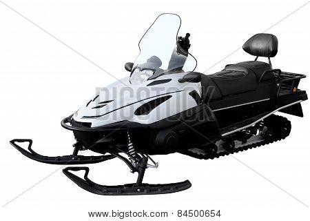 Modern White Snowmobile