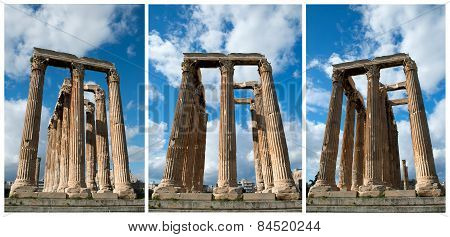 Columns In Olympieion Athens