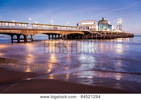 Bournemouth Pier At Night Dorset