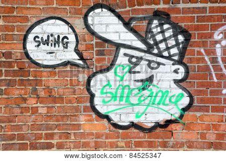 Street art Montreal hillbilly