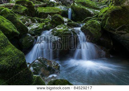 Water cascades in Gorski Kotar