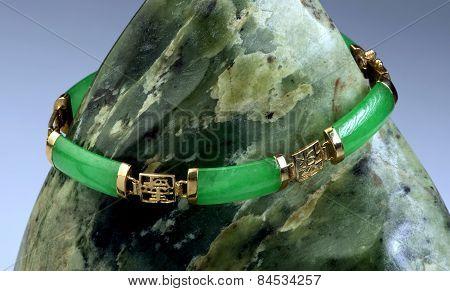 Green Jade Bangle.