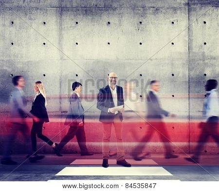 Business Man Individuality Role Model Modern Organization Concepts
