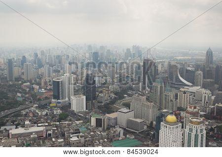 Smog Over Bangkok In City Center