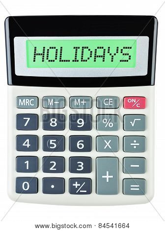 Calculator With Holidays
