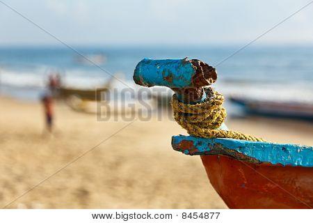 Fishermen's Boats On Beach