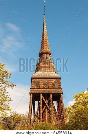Traditional wooden Swedish Church