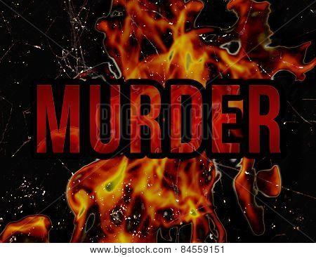 Murder Concept Grunge Styl Background