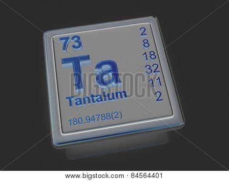 Tantalum. Chemical element. 3d