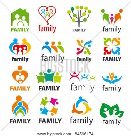 Large Collection Of Vector Icons Family