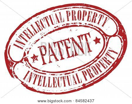 Retro patent stamp