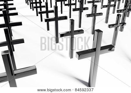 Crosses - 3D Rendered Illustration