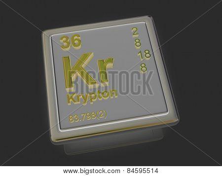 Krypton. Chemical element. 3d