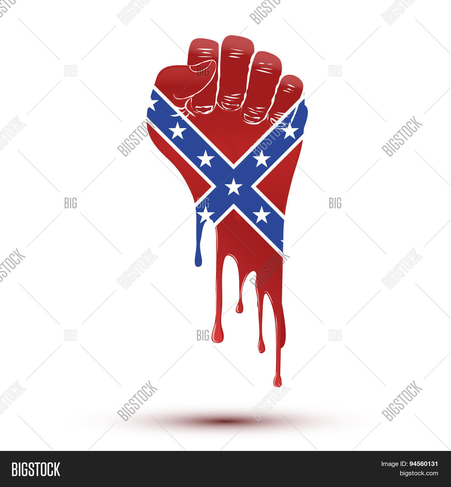Symbol blood flow clenched fist vector photo bigstock symbol blood flow of clenched fist held in protest with confederate flag biocorpaavc
