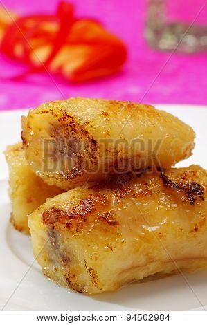 Baked Caramelized Bananas