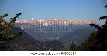 Mountain Range in the dolomites
