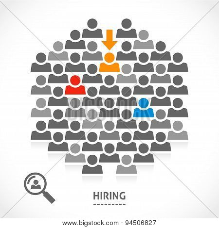 Concept of hiring new vacancy