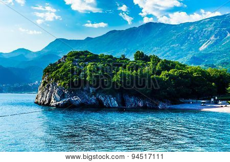 View On Sea And Mountains In Montenegro