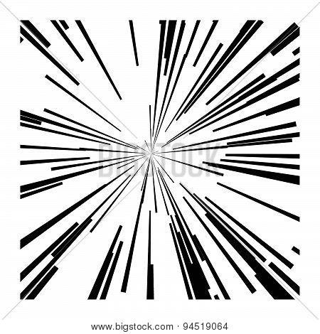 illustration vector abstract speed motion black lines star burst background