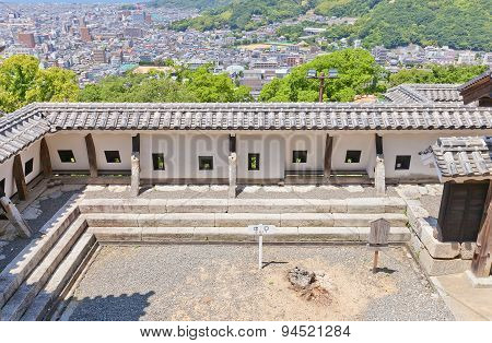 Inner Wall Of Shikiri Gate Of Matsuyama Castle, Japan