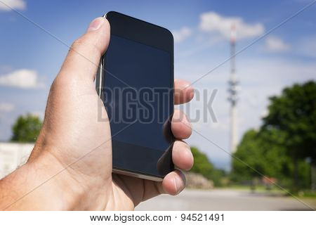 Mobile Phone And Broadcasting Tower